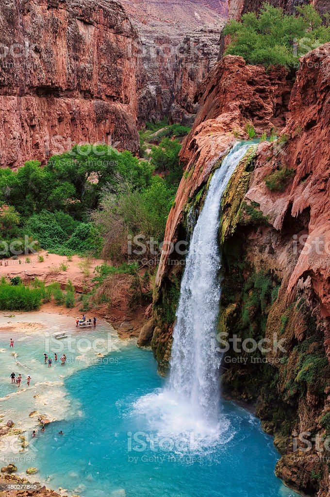 The best waterfalls in the Grand Canyon, Havasu Falls stock photo