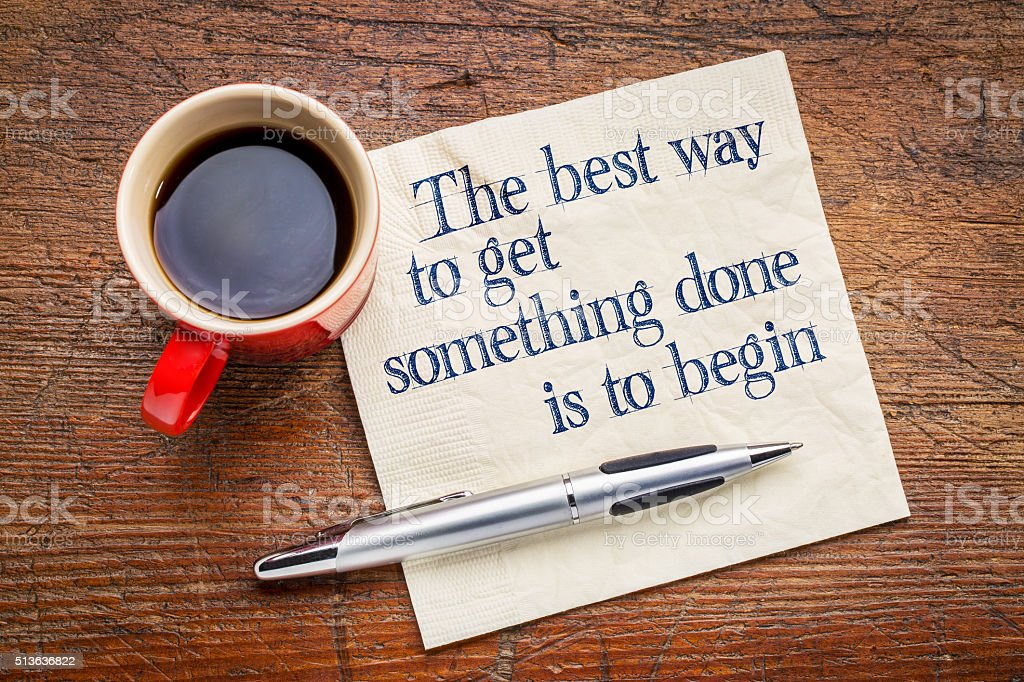 the best way to get something done stock photo