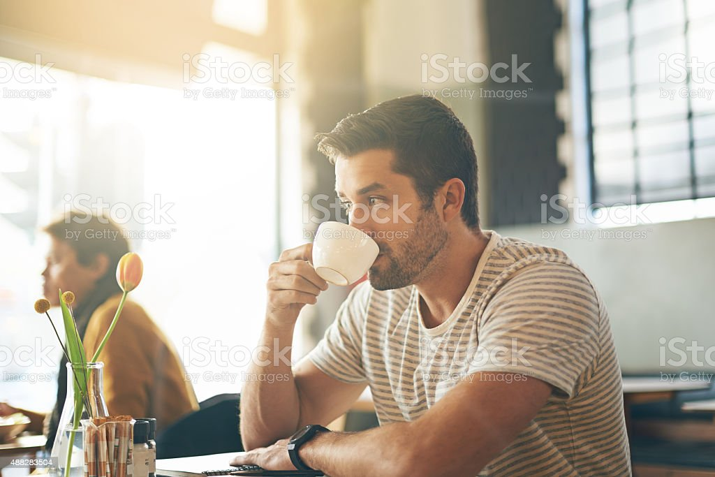 The best way to start the day stock photo