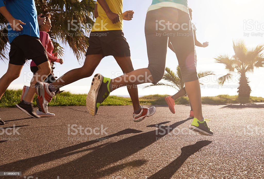 The best way to stay fit stock photo