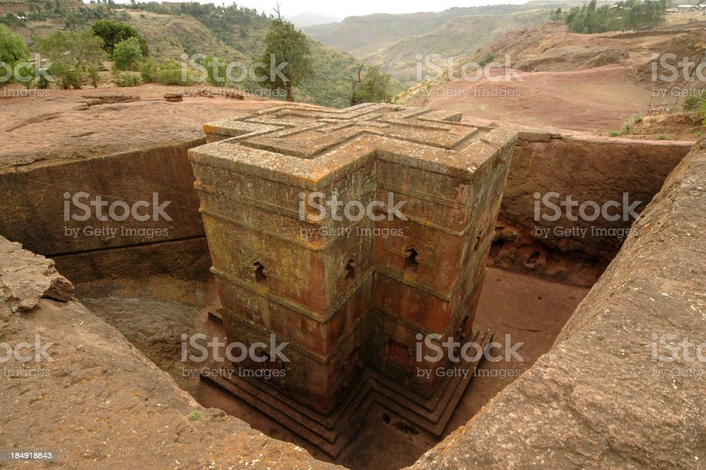 The Bet Giyorgis Lalibela in Ethiopia royalty-free stock photo