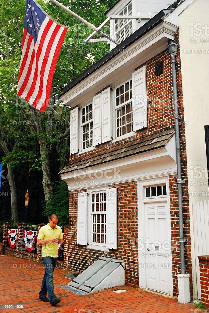 The Betsy Ross House, Philadelphia stock photo