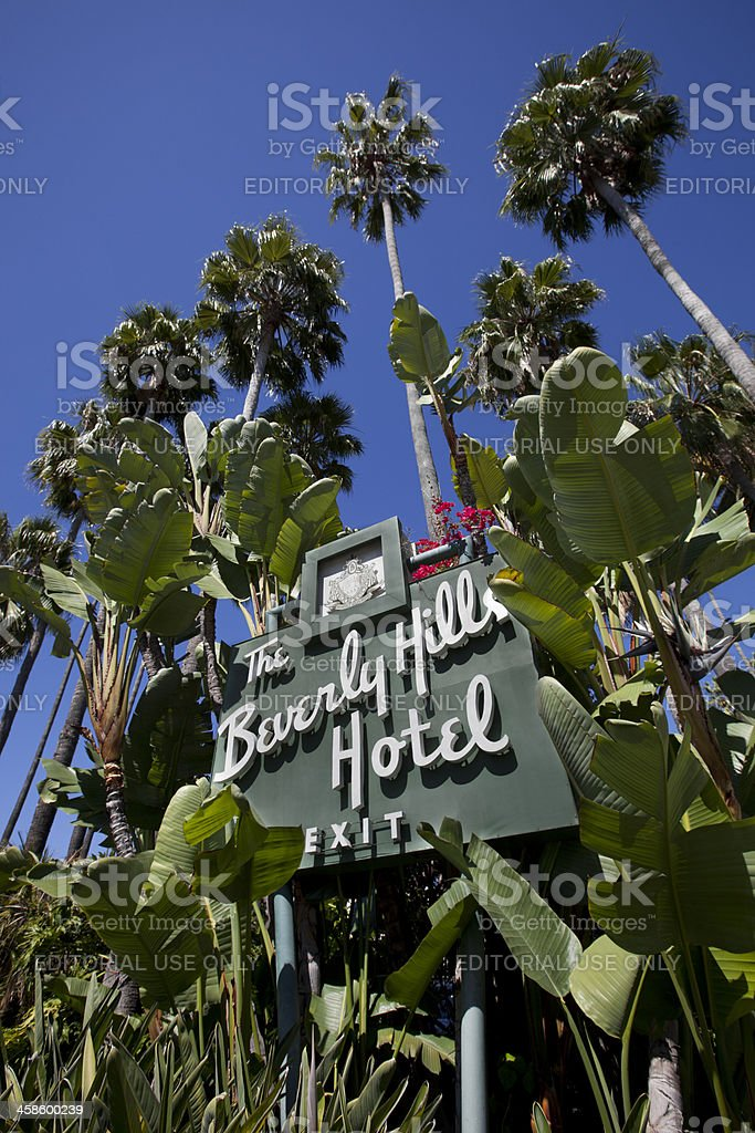 The Beverly Hills Hotel Sign stock photo