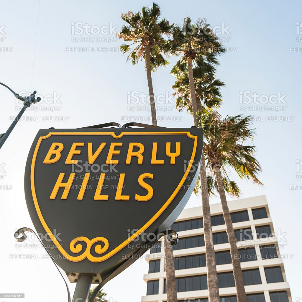 The beverly Hills Street sign stock photo