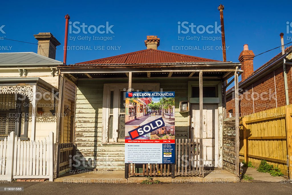 The 'Beyonce House', Brunswick, Melbourne stock photo