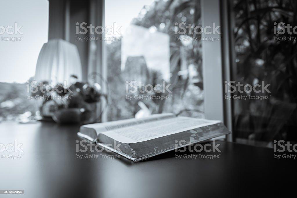the bible, Opened Bible stock photo