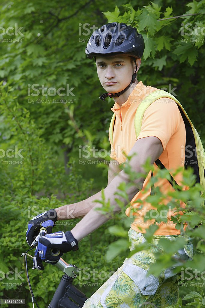 The bicyclist royalty-free stock photo