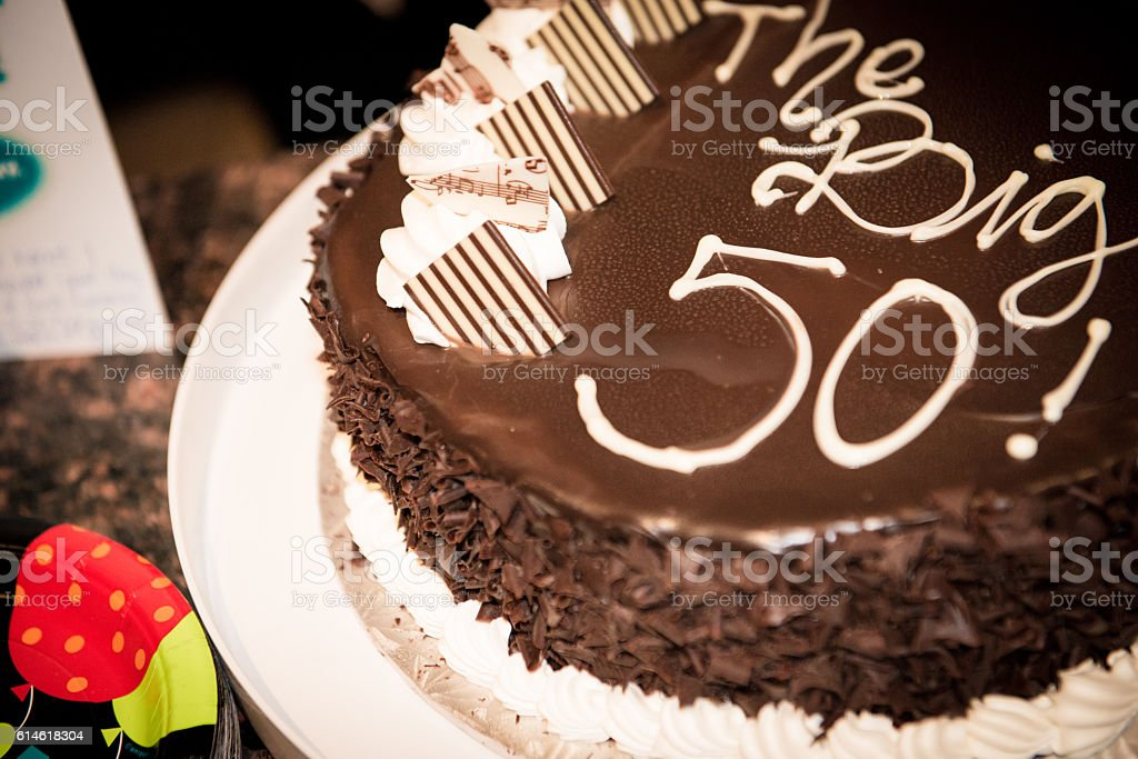 the Big 50 Birthday Cake stock photo
