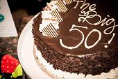 the Big 50 Birthday Cake
