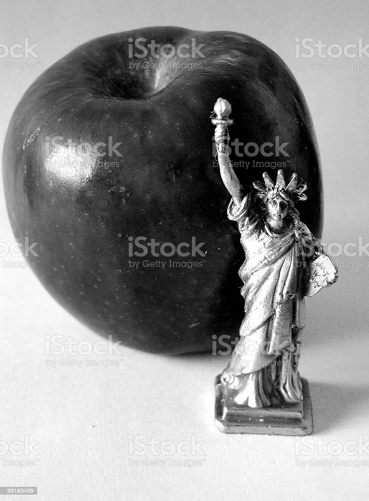 The Big Apple b&w royalty-free stock photo