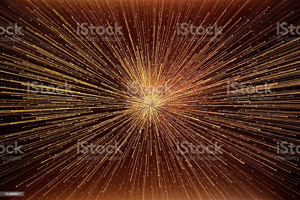 The \'big bang\' explosion in deep space.