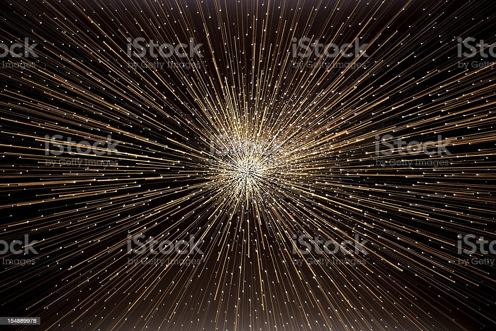 The 'big bang' explosion in deep space royalty-free stock photo