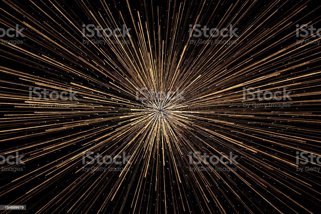 The 'Big Bang' explosion in deep space stock photo
