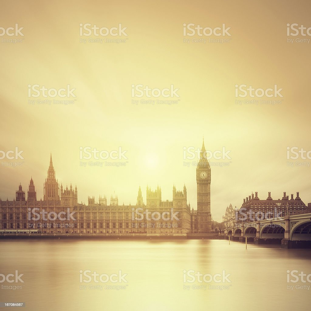 The Big Ben and parliament in London royalty-free stock photo