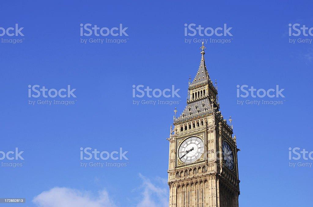 The Big Ben clock tower royalty-free stock photo