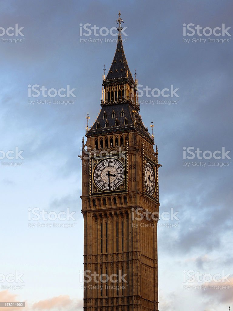 The Big Ben. London, England. royalty-free stock photo