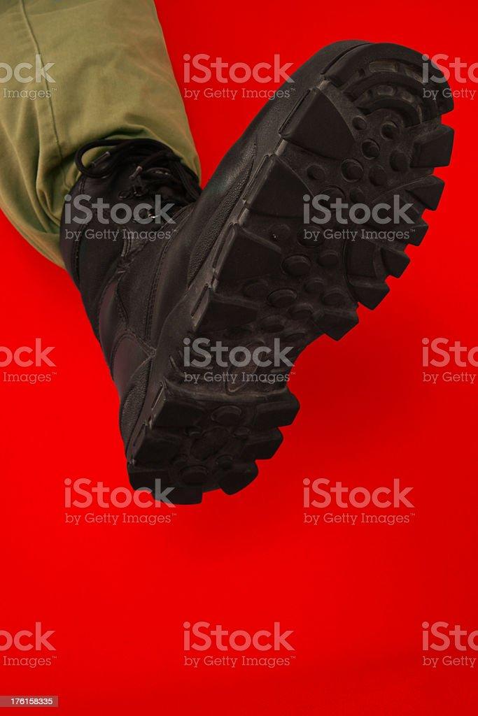 The Big Black Boot of Tyranny stock photo