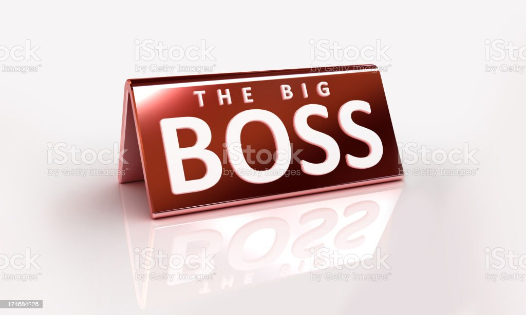 The Big Boss royalty-free stock photo