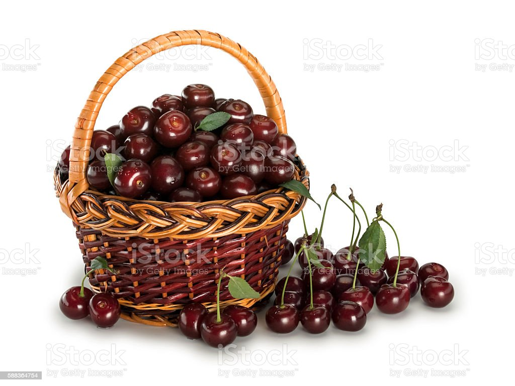 The big crop of a cherry stock photo