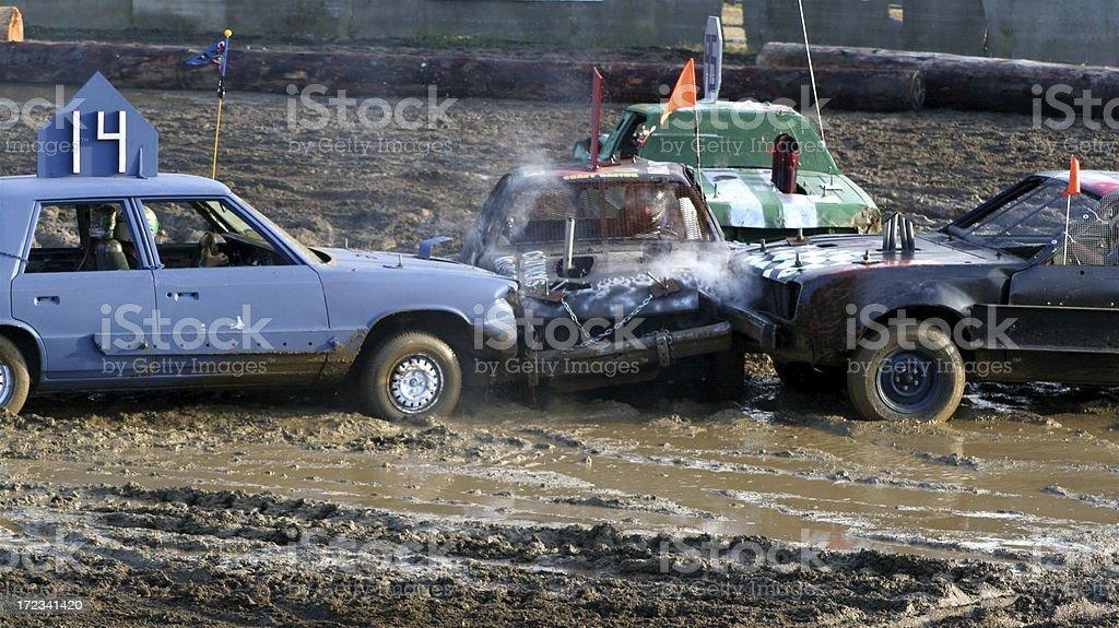 The Big Crunch In Demolition Derby stock photo