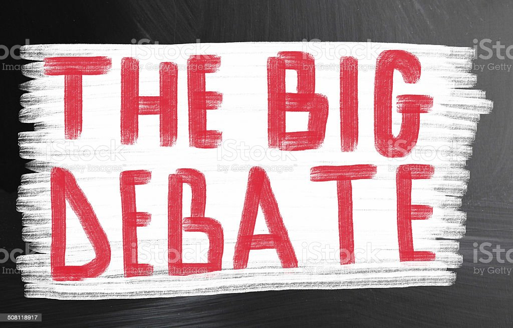 the big debate stock photo