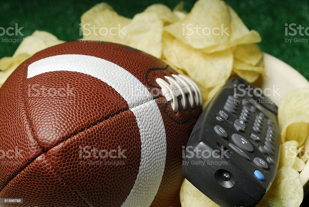 The Big Game is on TV stock photo