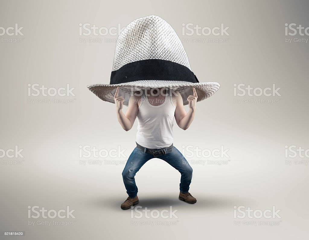 The big hat stock photo