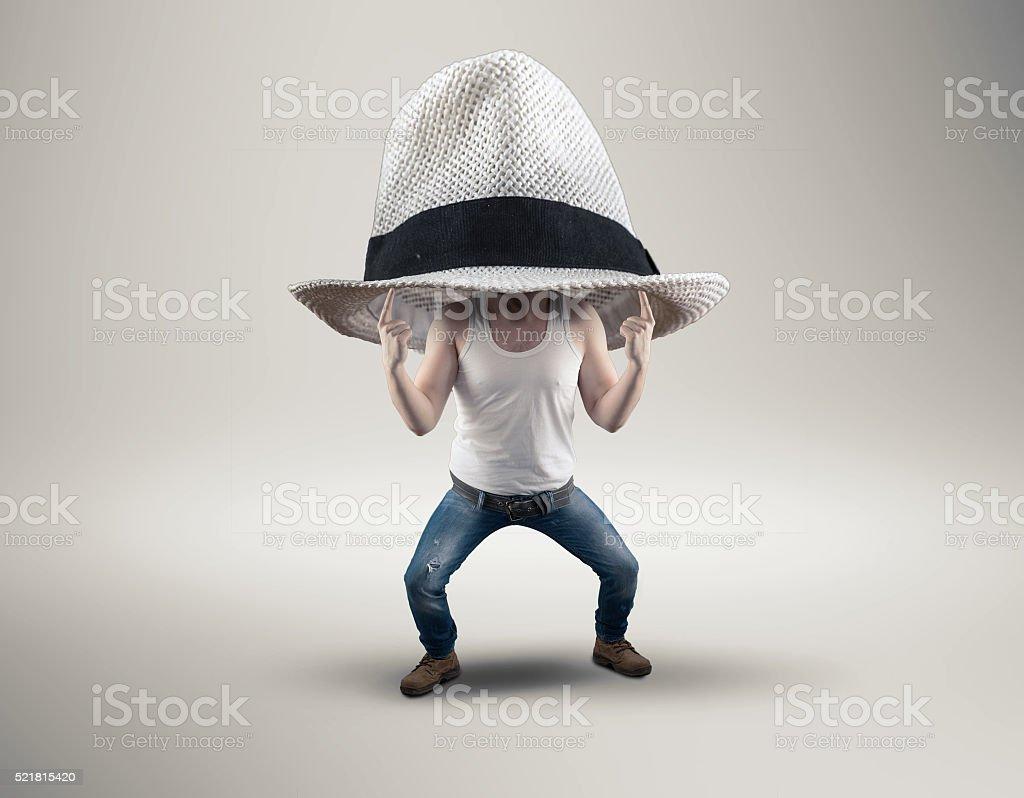 The big hat stock photo