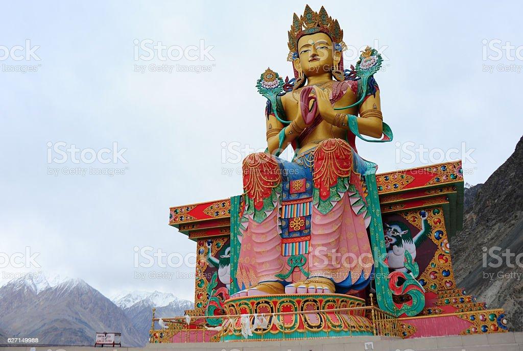 The Big Maitreya Buddha statue, Ladakh, India stock photo