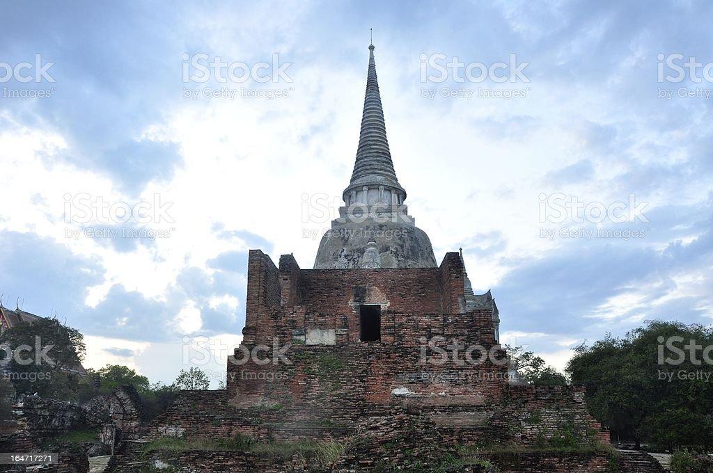The Big Pagoda at Wat Phra Sri Sanpetch royalty-free stock photo