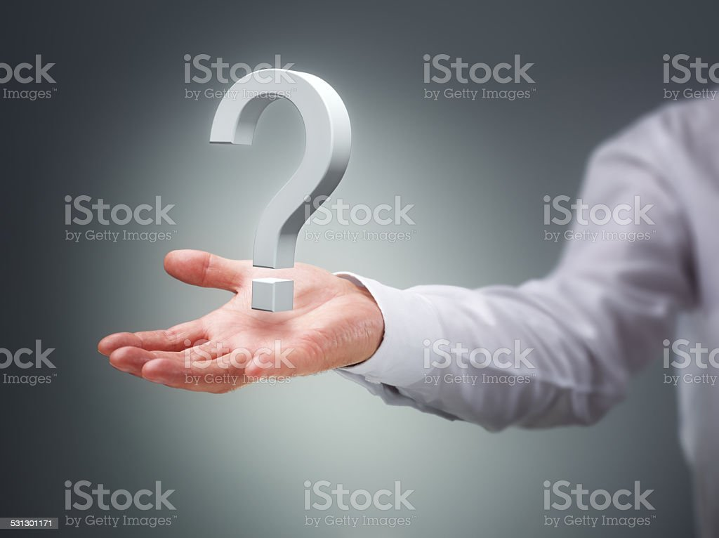 The big question stock photo