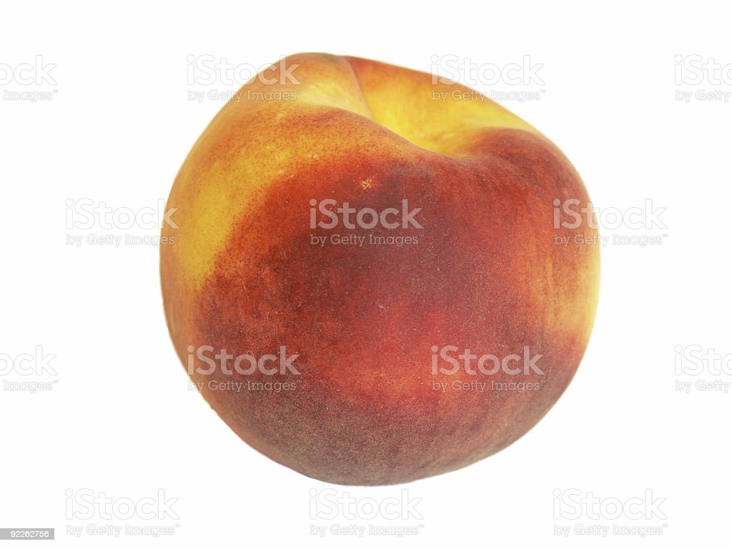 The big ripe peach over white royalty-free stock photo