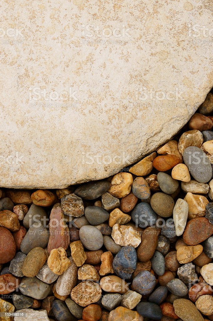 The Big Stone Plate and Gravel Stones royalty-free stock photo