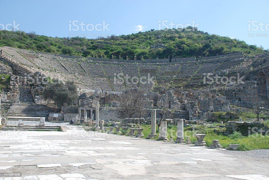 Das Große Theater im antiken Ephesos Lizenzfreies stock-foto