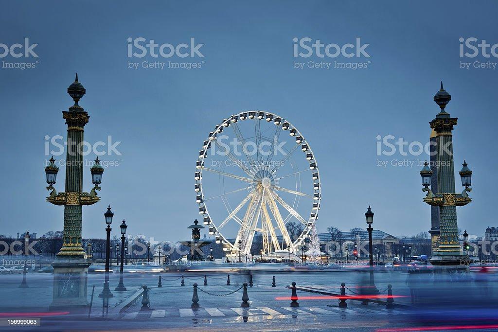 The big wheel in Paris, Place de la Concorde royalty-free stock photo