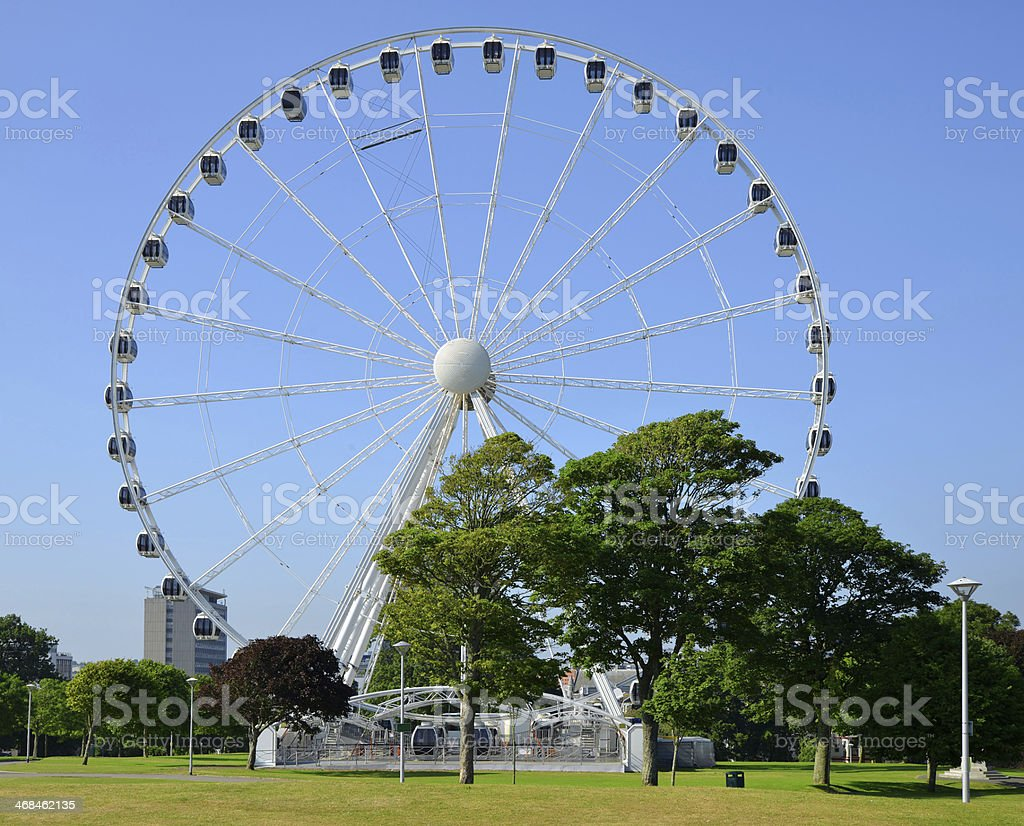 The Big wheel, Plymouth Hoe royalty-free stock photo