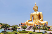 The Biggest Buddha statue at Wat Muang temple in Thailand