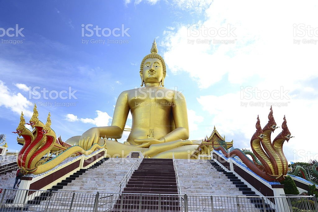 The Biggest Golden Buddha royalty-free stock photo