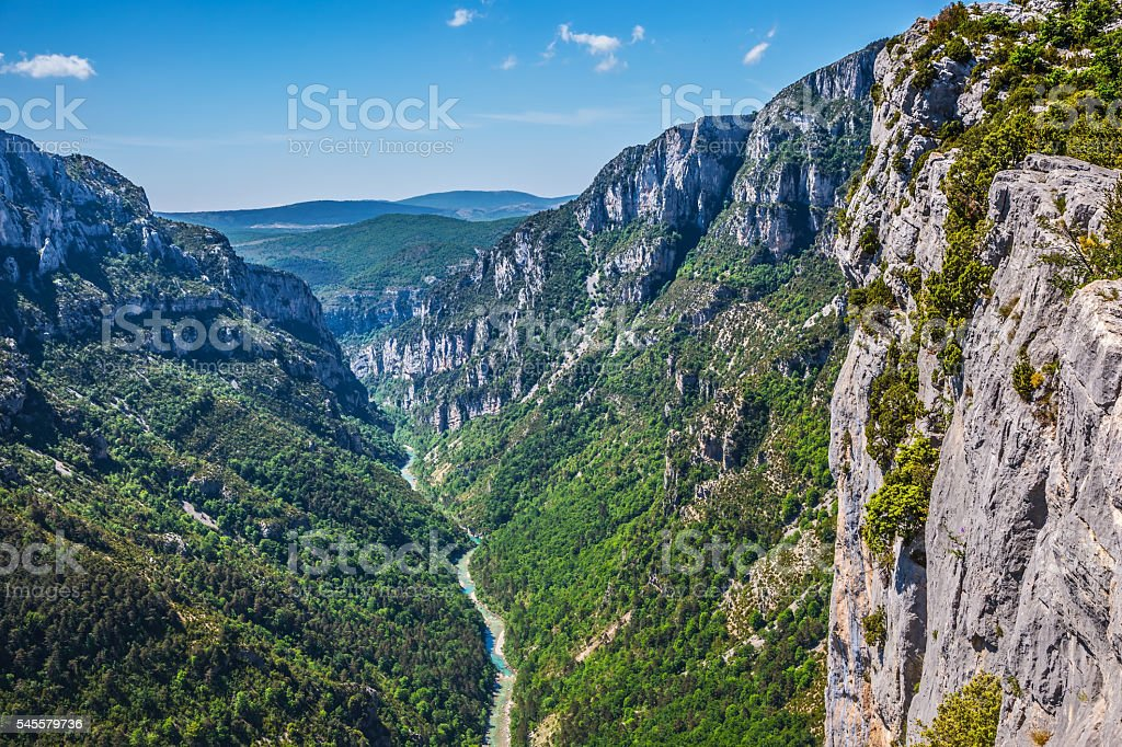 The biggest mountain canyon in Europe stock photo