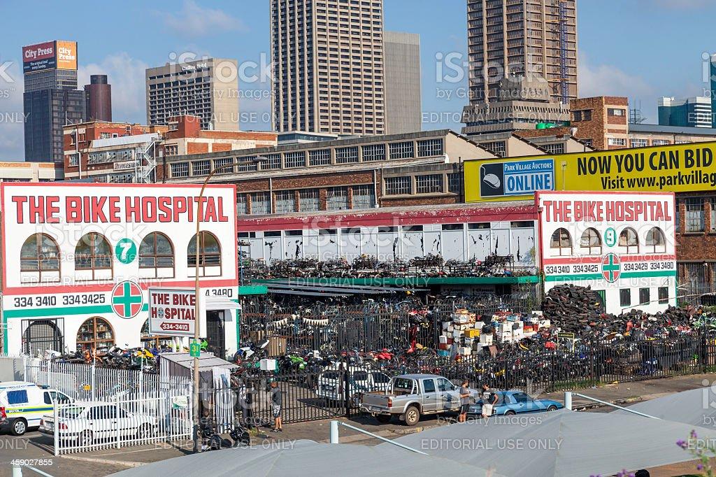 The Bike Hospital in Johannesburg royalty-free stock photo