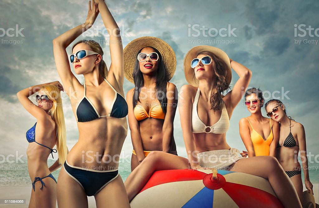 The Bikini Bodies stock photo