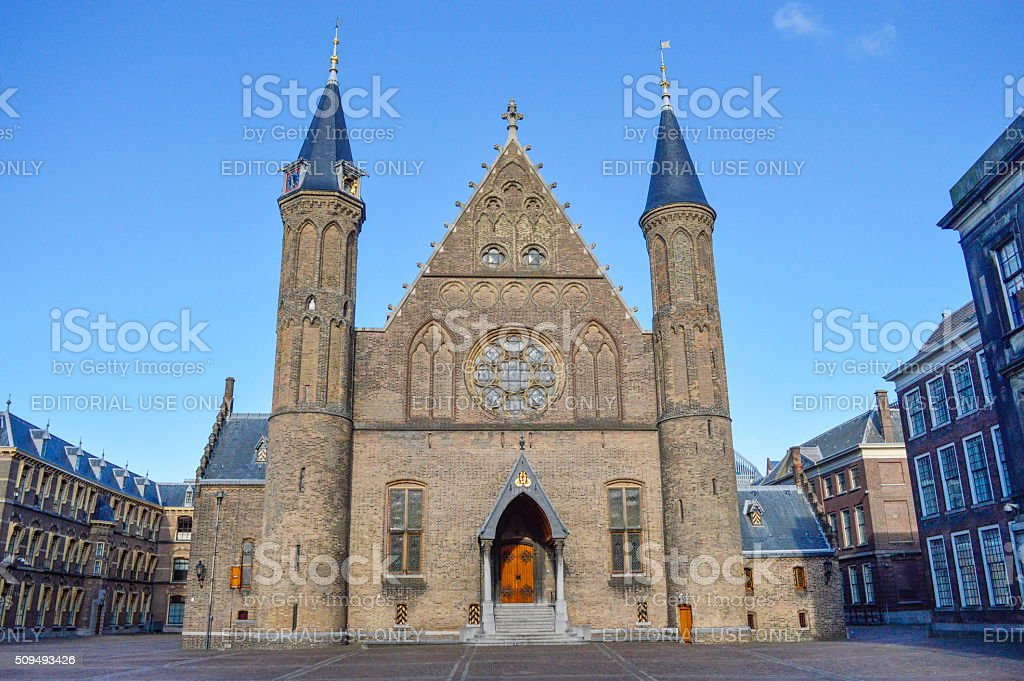 The Binnenhof building in den Haag, Netherlands stock photo
