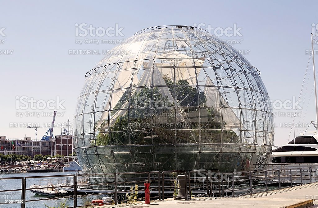 The Biosphere, Genoa, italy stock photo
