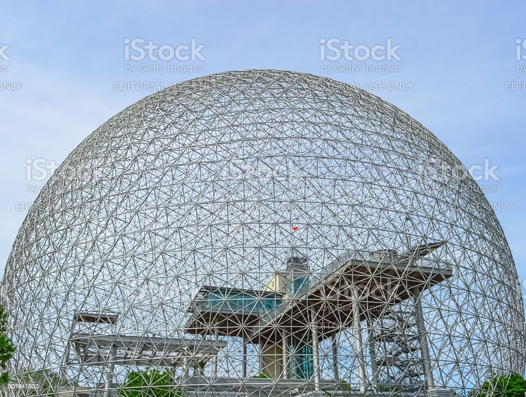 The Biosphere is a museum in Montreal stock photo