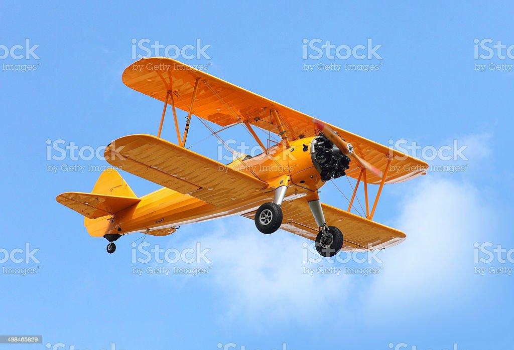 The biplane. stock photo