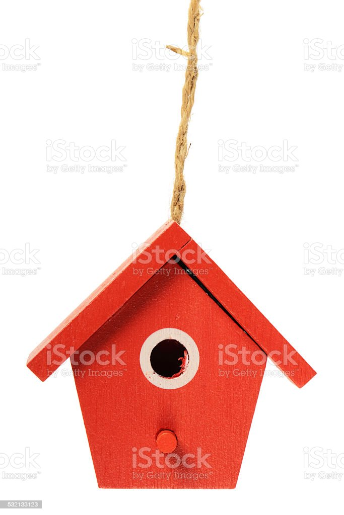The birdhouse stock photo