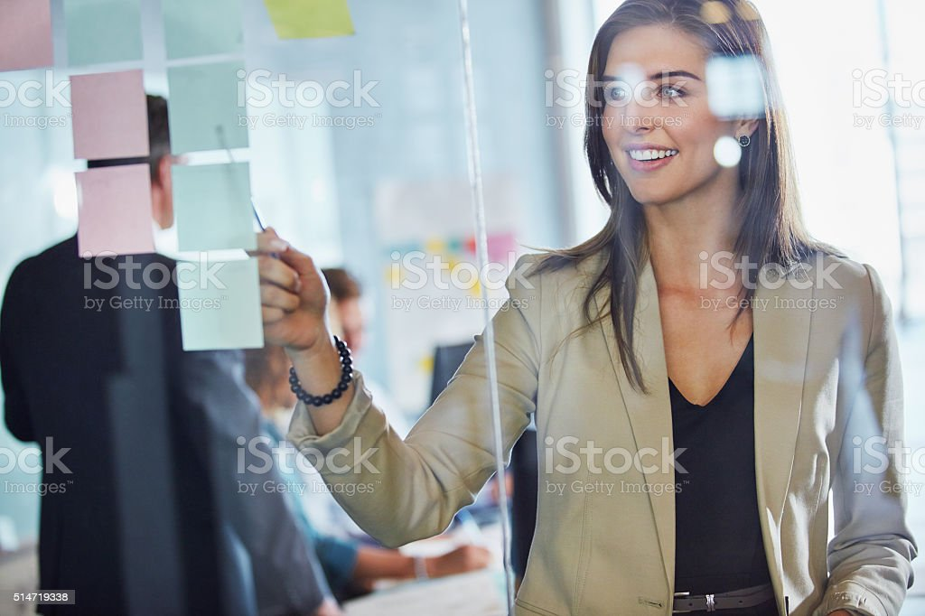 The birth of an amazing project stock photo