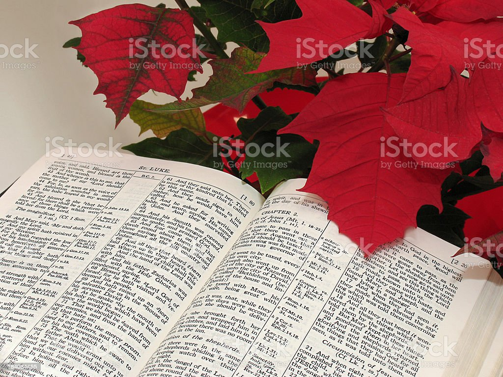 The Birth of Jesus (KJV) royalty-free stock photo