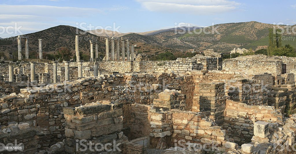 The Bishops Palace and Temple of Aphrodite royalty-free stock photo