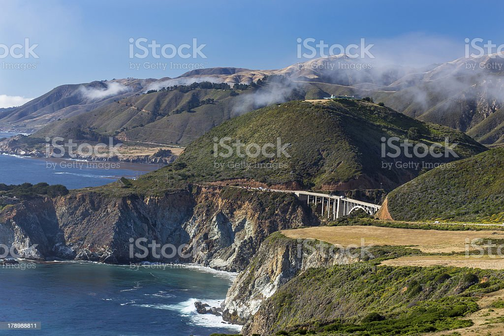 The Bixby Bridge stock photo